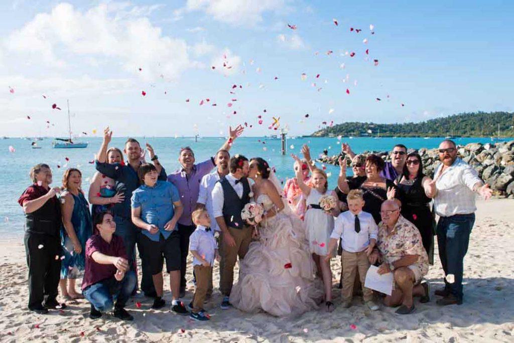 Group-Wedding-Photo-On-The-Beach