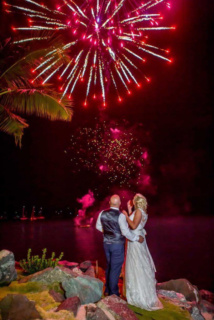Whitsunday-Wedding-Fireworks-Bride-And-Groom